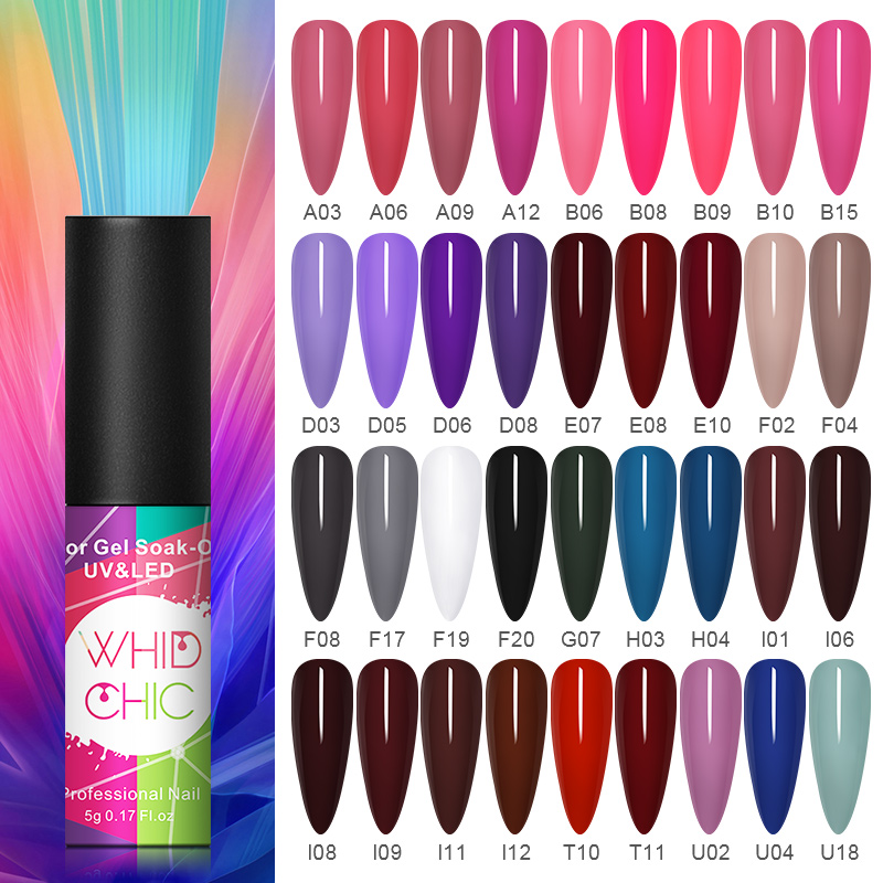 WHID CHIC Matte UV Gel Nail Polish Color Gel Long-Lasting Need Matte Top Coat Soak Off Nail Art UV LED Gel Varnish 5ml