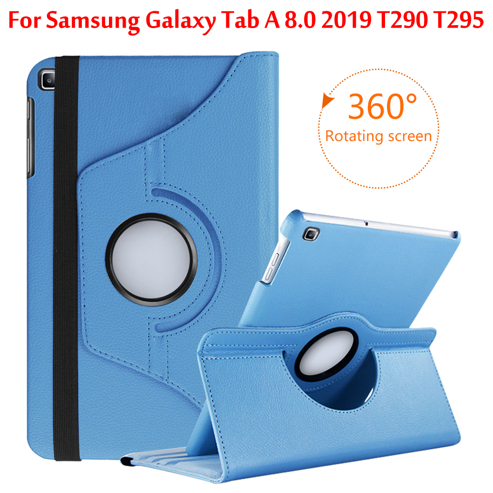 Case For Samsung Galaxy Tab A 8.0 2019 T290 T295 T297 Tablet Slim PU 360 Rotating Cover For SM-T290 SM-T295 SM-T297