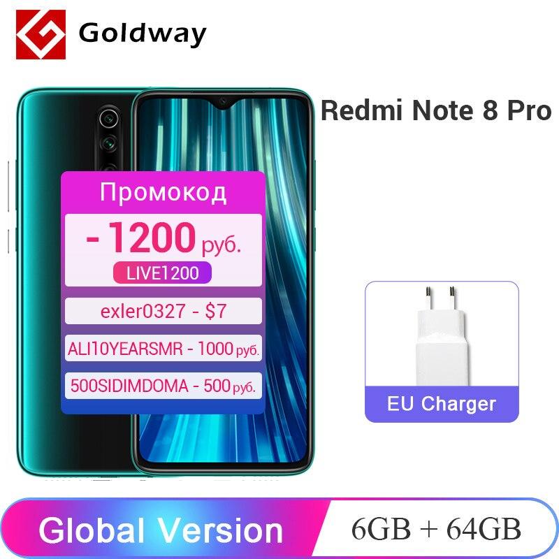 14434.63руб. 22% СКИДКА|Xiaomi Redmi Note 8 Pro смартфон с четырёхъядерным процессором Helio G90T, ОЗУ 6 ГБ, ПЗУ 64 ГБ, 4500 мАч|Мобильные телефоны| |  - AliExpress