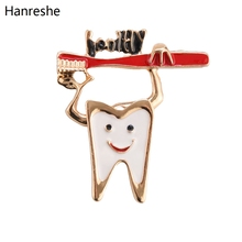 Personality Tooth Toothbrush Cute Enamel Lapel Brooch Pin Metal Quality Medical Jewelry Small Pins For Student Doctor Nurse Gift