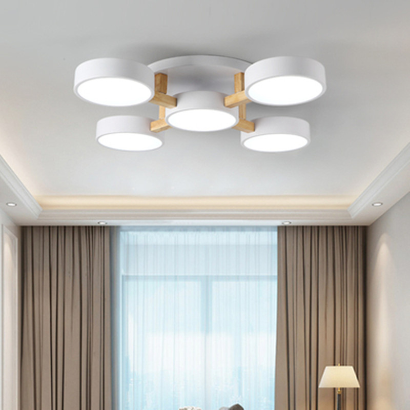 Nordic Bedroom Chandelier Ceiling Lamp Simple Modern Small Living Room Dining Room Atmosphere Personality Room Ceiling Lighting