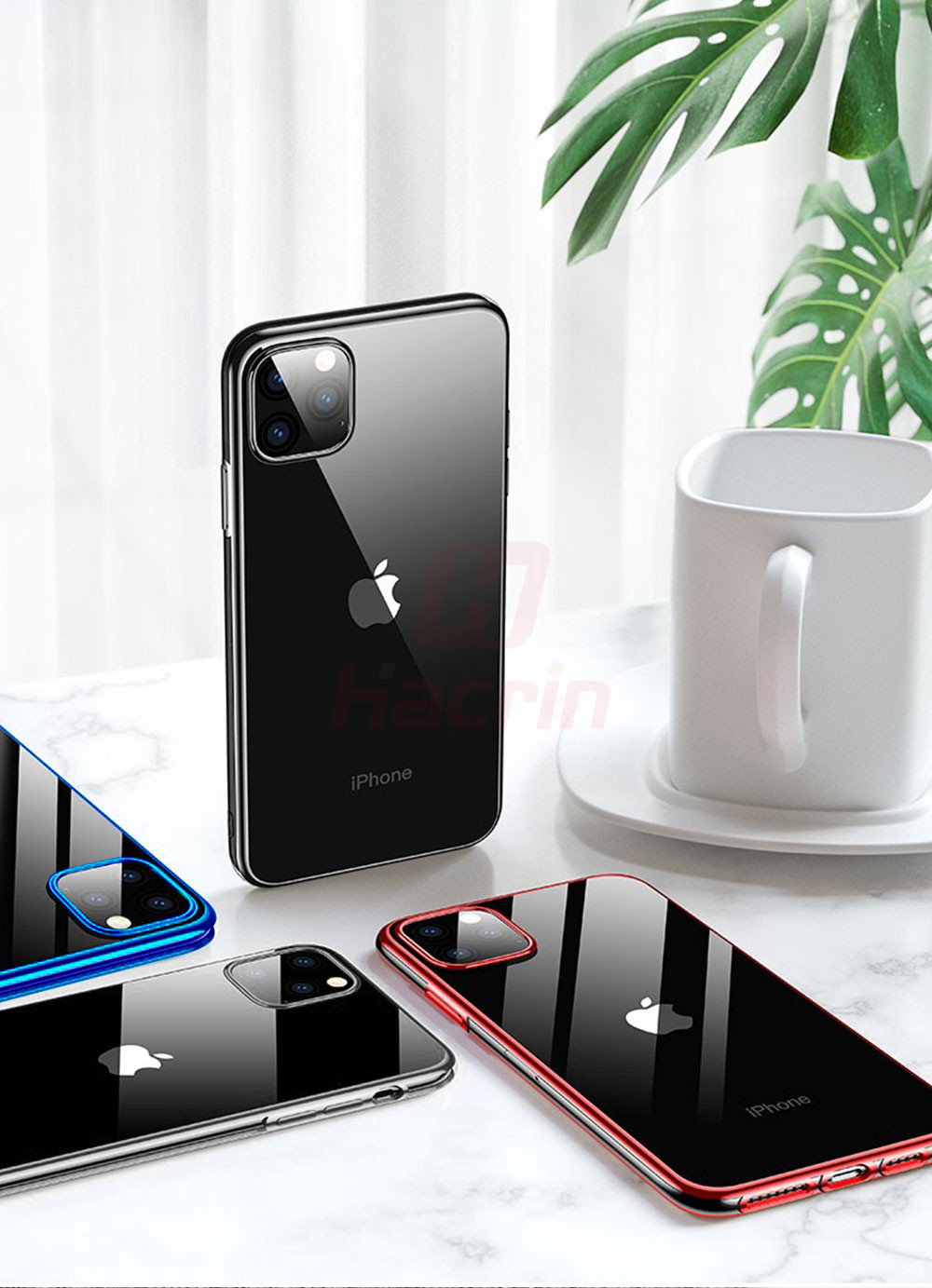 Hacrin Transparent TPU Silicone Case for iPhone 11/11 Pro/11 Pro Max 11