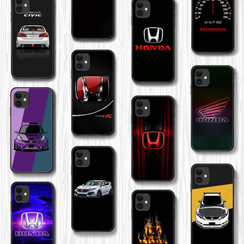 Honda car H logo Phone Case Cover Hull For iphone 5 5s se 2 6 6s 7 8 12 mini plus X XS XR 11 PRO MAX black shell pretty back image