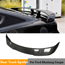 Rear Trunk Spoiler Boot Lip Wing For Ford Mustang Coupe 2015 - 2019 Rear Spoiler Carbon Fiber / ABS Glossy Black