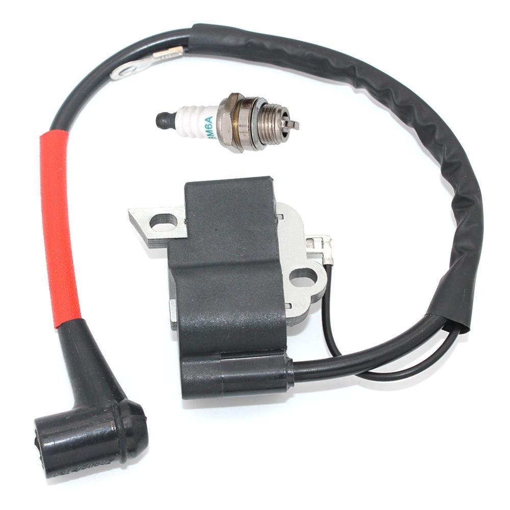 Ignition Coil with Spark Plug BM6A for Dolmar PS-460 PS-460D PS-500 PS-500D PS-510 PS-4600S PS-4600SH PS-5000 PS-5000D PS-5000H