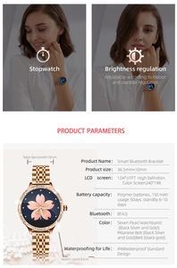 Image 5 - 2020 ファッションの女性のスマートウォッチM9 心拍数血圧モニターIP68 防水スポーツスマートウォッチアップルxiaomiサムスン