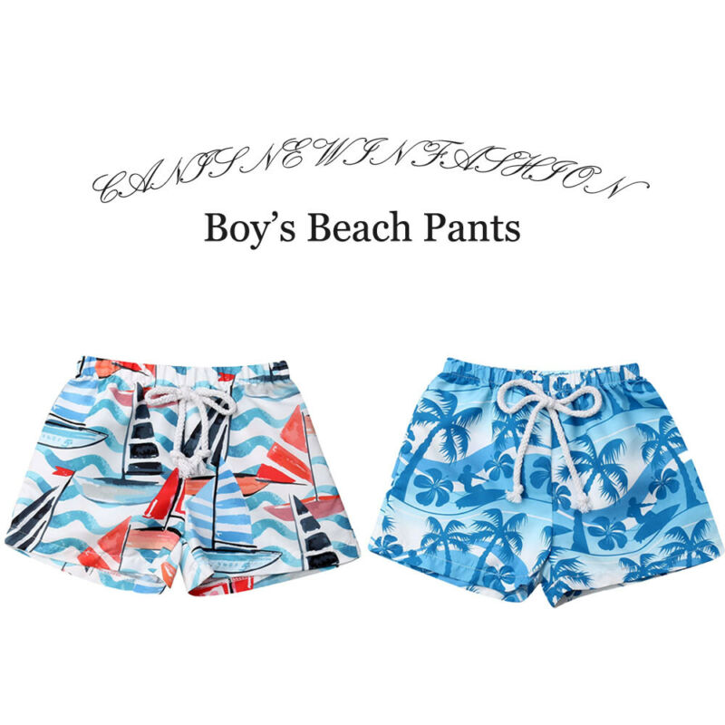 Summer Beach Shorts For Kids Baby Boys Swimwear Swimsuit Swimming 6M-4Y Young Holiday