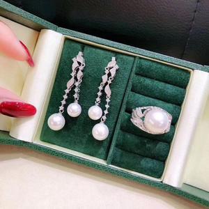 Image 5 - اللؤلؤ والمجوهرات مجموعات غرامة مجوهرات المياه العذبة الطبيعية 7 14 مللي متر اللؤلؤ الأبيض الإناث مجموعات مجوهرات للنساء غرامة مجوهرات مجموعات