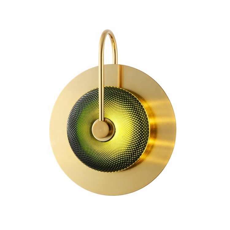 Lumière postmoderne luxe personnalité doré rond verre applique verre lumière scandinave cuisine lustre