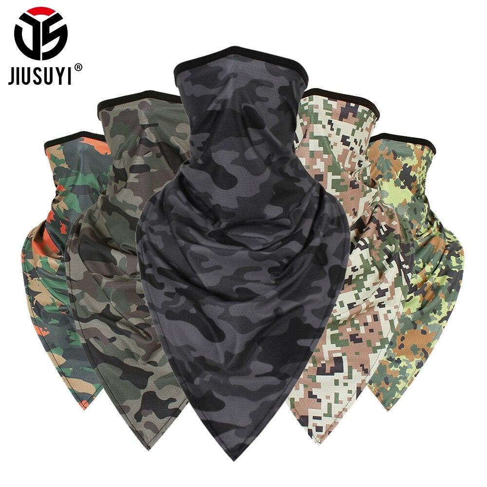 Wrap Scarf Headband Gaiter Tube Face-Mask Balaclava Neck Military Thin Triangle Soft