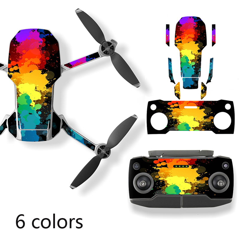 6PCS Protective Film PVC Sticker For DJI Mavic Mini Drone Body Arm Waterproof Scratch-proof Decals Shell Cover Colorful Skin