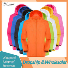 Womail Jas mannen vrouwen Casual Zon Kleding Jassen Winddicht Ultralichte Regendicht Windjack Dropship May28(China)