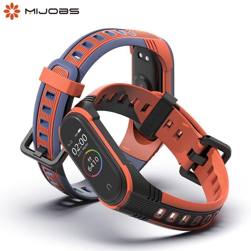 Bracelet For Xiaomi Mi Band 3 4 Sport Silicone Wrist Strap Smart Watch Band For Xiaomi Mi Band 4 3 Wristband