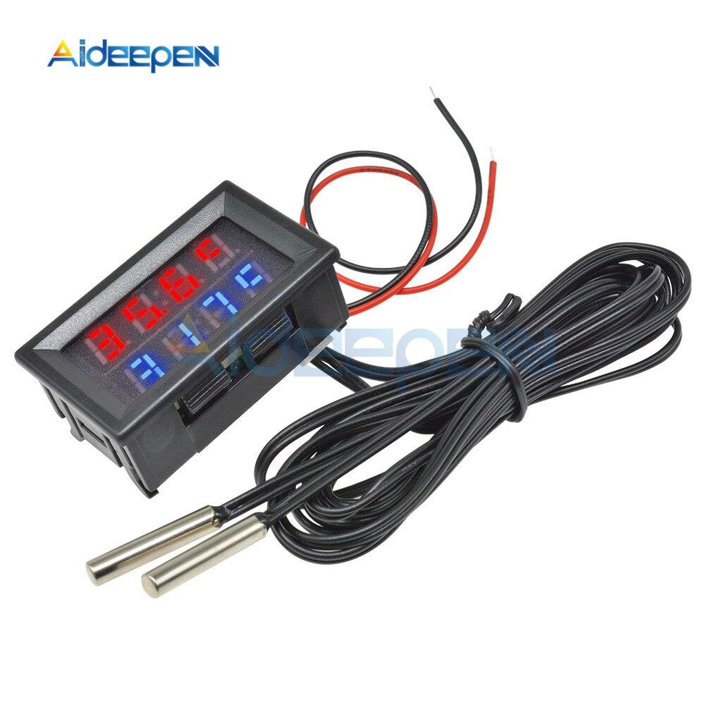 Цифровой термометр с двойным светодиодным дисплеем, 0,28 дюйма, 4-28 В постоянного тока