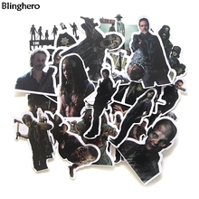 Blinghero Walking Dead Stickers 24Pcs/set Zombie Scrapbooking Cool Refrigerator Album Decals BH0104