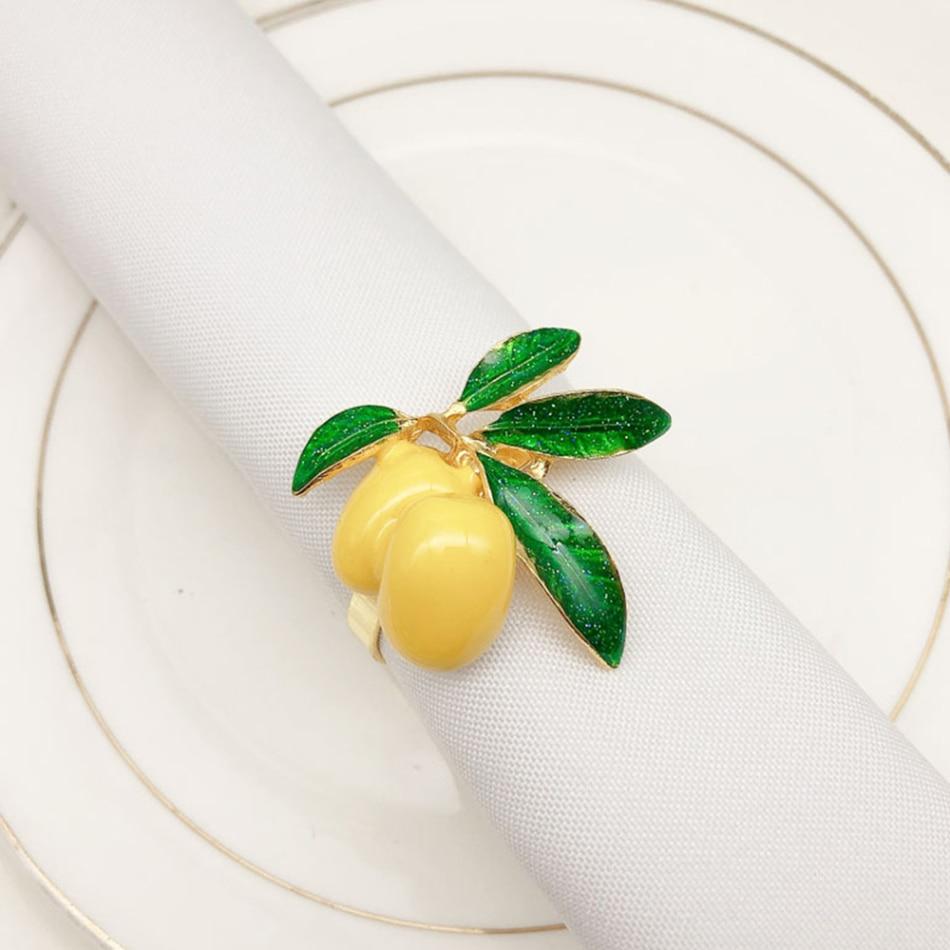 Кольцо держатель для салфеток из сплава в виде фруктов обеденное полотенце