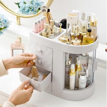 Transparent makeup case waterproof Dressing case desktop storage organizer drawer beauty Cosmetic box acrylic storage boxs цена 2017