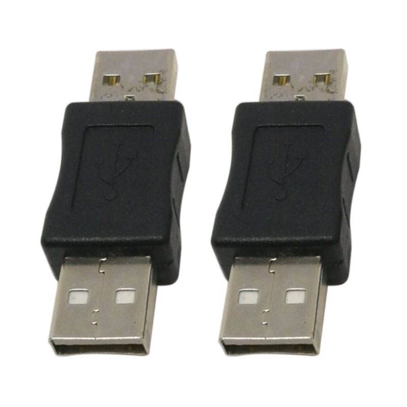 2PCS USB Male To USB Male M/M Gender Charger Adapter Coupler Converter Connector 28TE
