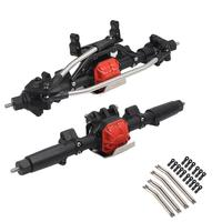 RCtown RC Car Front Rear Straight Complete Axle+8PCS Metal Link Set for 1/10 Axial SCX10 2 ii Jeep Cherokee 90046/47 4wd Truck