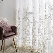 Luksusowe przędzy haftowane ekrany 3D księżniczka Tulle zasłony do sypialni romantyczny Sheer okno pokoju dziecięcego dekoracji