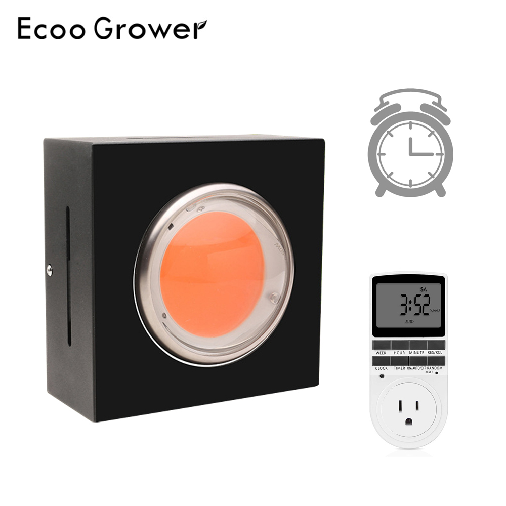 Ecoo Grower LED COB Grow Light Full Spectrum Wiht Intelligent Timer Switch For Greenhouse Planting Grow Tent Plants Grow Lamp