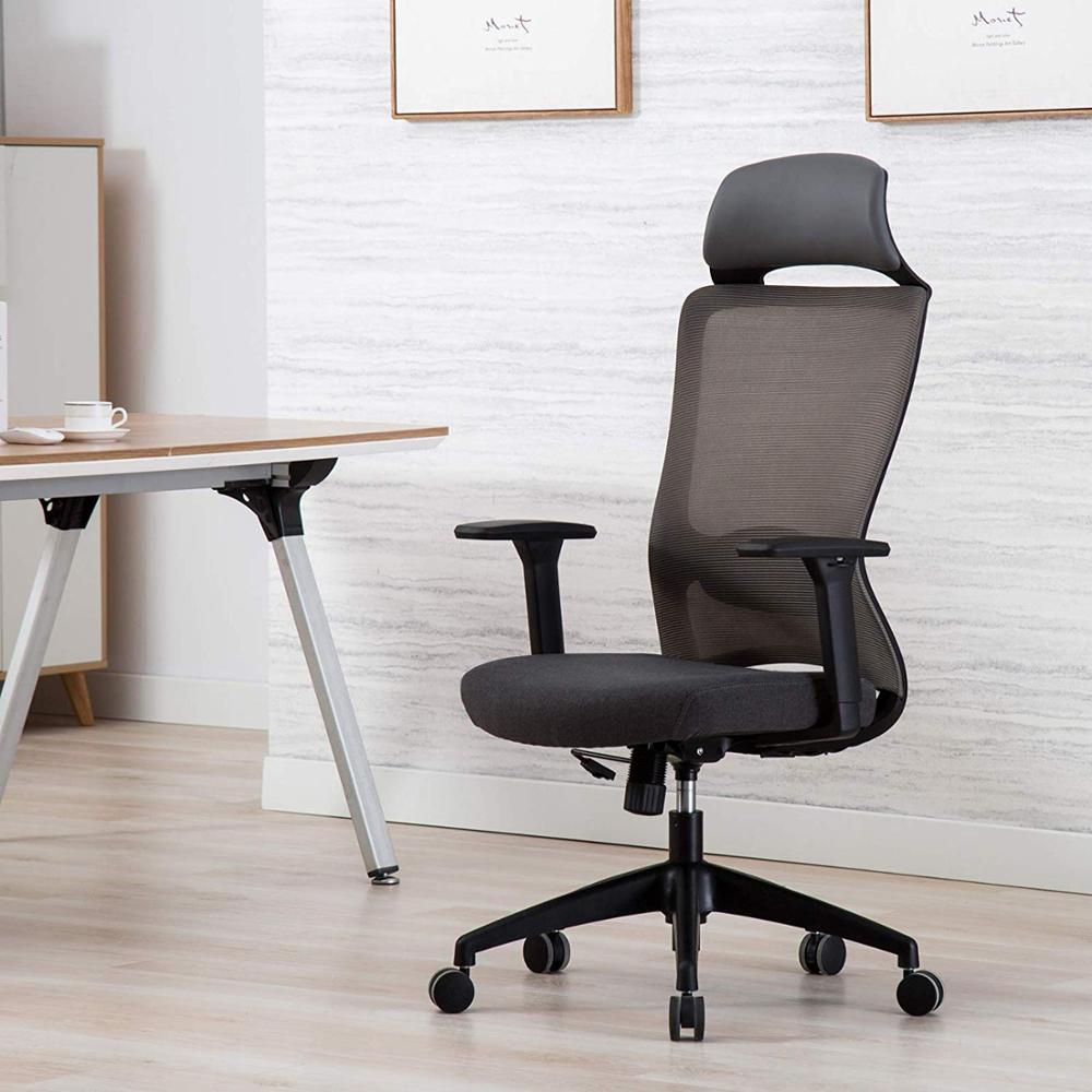 Computer Chair Headrest Office Chair Ergonomic Swivel  Mesh Task Chair High Back Adjustable Lumbar Support Gaming Chair