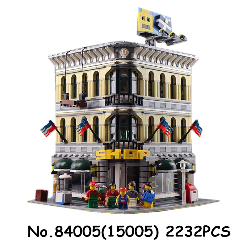 Roi briques 15009 15005 Pet Shop créateur blocs de construction compatibles avec 10218 10211 ville rue série jouets briques cadeau-in Blocs from Jeux et loisirs    3