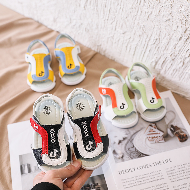 2020 Summer New Children's Sandals Cute All-match Casual Sandals For Baby Girl Boy Flat Toddler Crib Sandals Infant Shoes D03241