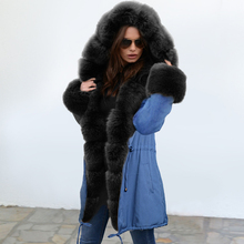 2019 Fashion Women's Thicker Hooded Faux Fur Lined Warm Coats Parkas Anoraks Out