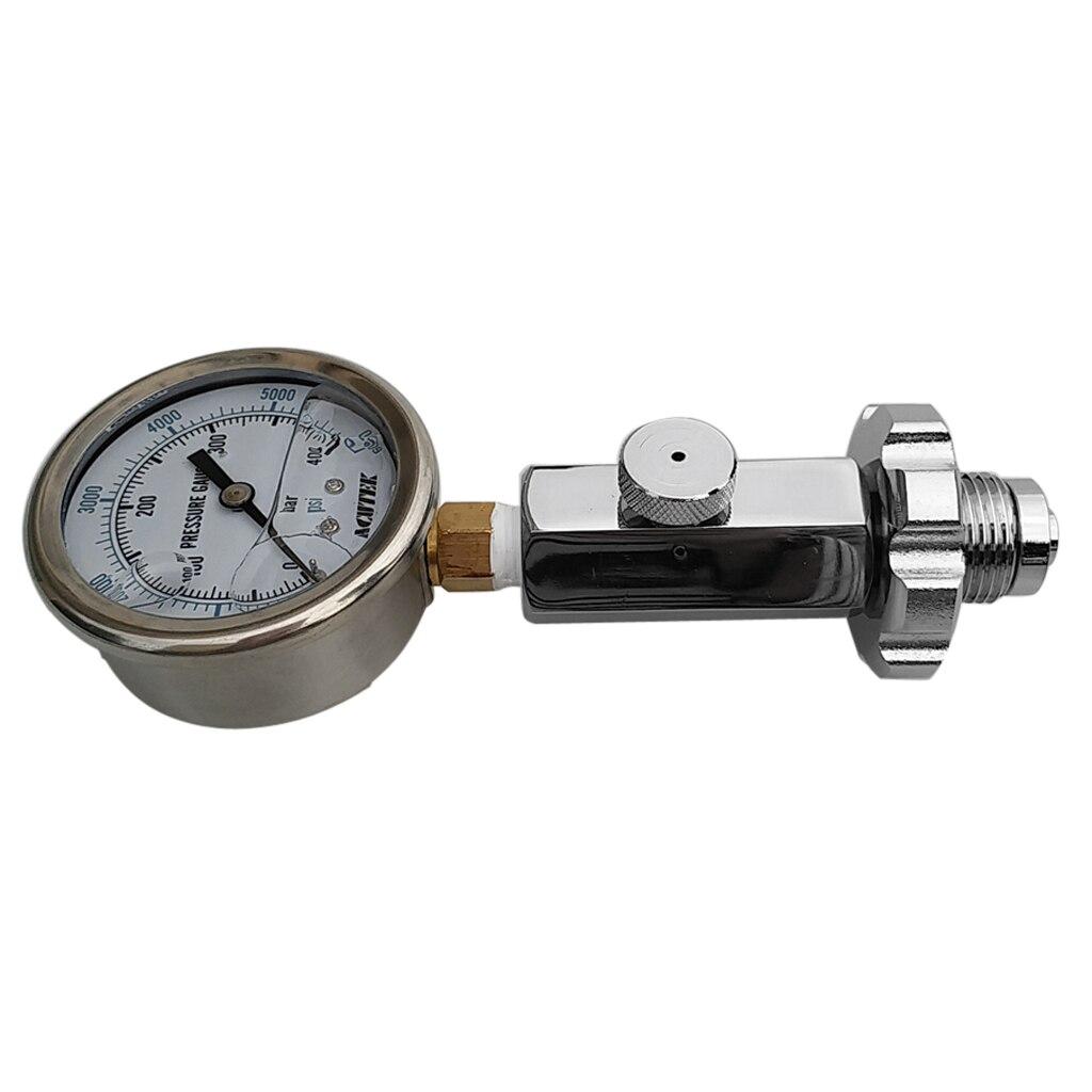 Jauge de pression de réservoir DIN de plongée de luxe 6000 PSI/400 BAR baromètre