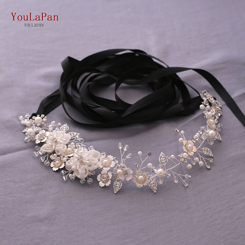YouLaPan SH275 Luxury sliver crystal belt wedding dress sash belt floral bridal sash diamond waist belt rhinestone belt