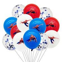 Spiderman látex balões crianças menino super herói aniversário spiderman decorações de festa feliz aniversário aranha máscara brinquedos