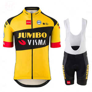 JUMBO VISMA Team Cycling Clothing Set Mens Bicycle Maillot MTB Racing Ropa Ciclismo Summer Hombre Roupa Bike Jersey Triathlon