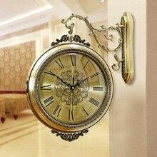 Reloj De Pared silencioso Vintage diseño moderno Retro Reloj De Pared sala De estar Reloj De Pared decoración del hogar superventas 2018 productos