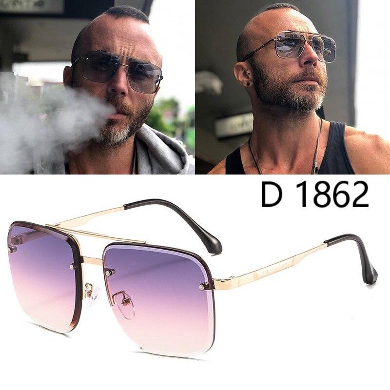 DPZ 2020 Fashion Cool Square Pilot Style Rivets Ditaeds Sunglasses Women Tint Gradient Brand Design Sun Glasses Oculos De Sol