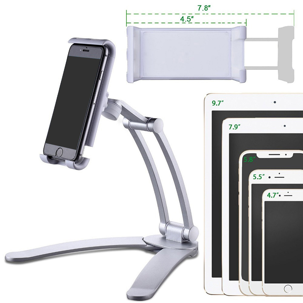 lowest price Besegad Tablet Desk Wall Stand Phone Holder Bracket Mount Rotatable for 5-10 5 inch iPhone iPad Huawei Xiaomi Notebook Support