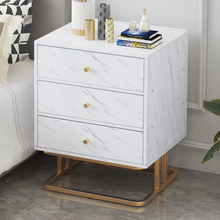 Bedroom Furniture Bedside Table with 1 Drawer 3 Drawer Nightstand Sofa Side Cabinet Marble Texture MDF Storage Table giantex wood night stand 2 tiers 1 drawer bedside end table bedroom furniture organizer storage basket nightstands w key hw56352