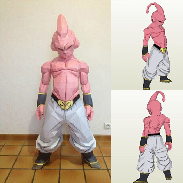 Dragon Ball Majin Scrag DIY Handmade 76CM Paper Model Educational Toys And Leisure Fashion Decorative Ornaments