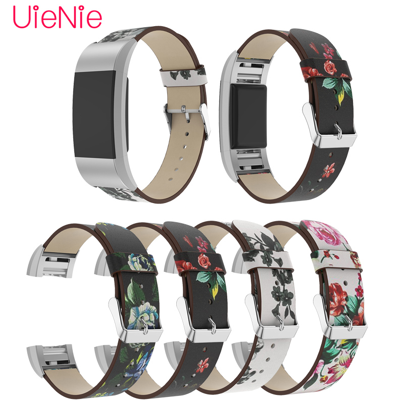 For Fitbit Charge 2 Printed Pattern Strap For Fitbit Charge 2 Smart Watch Frontier Floral Strap Wristband Replacement Accessory