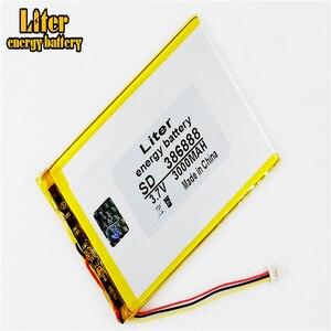 Image 3 - 3 thread 386888 3.7v 3000mah 357090 bateria li ion universal para tablet pc 7 polegada 8 polegada 9 polegada
