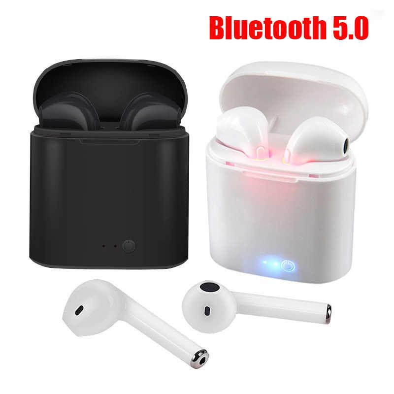 I7s Tws słuchawki Bluetooth bezprzewodowe słuchawki sportowe słuchawki douszne z ładowarkami do Apple iPhone Xiaomi Huawei Samsung