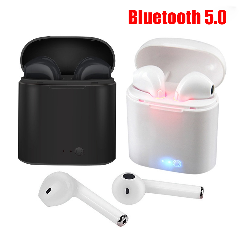 i7s Tws Bluetooth Earphones Sport Wireless Earphone Headphone Earbuds With Charging Pods for Apple iPhone Xiaomi Huawei Samsung