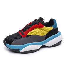 Whoholl Brand Women Fashion Sneakers Female Designer Chunky Shoes Breathable Platform Casual Vulcanized