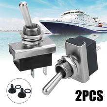 1 Pair 12V 25A Auto Toggle Switch Boat Marine Heavy Duty Flick Switches with Waterproof Cover