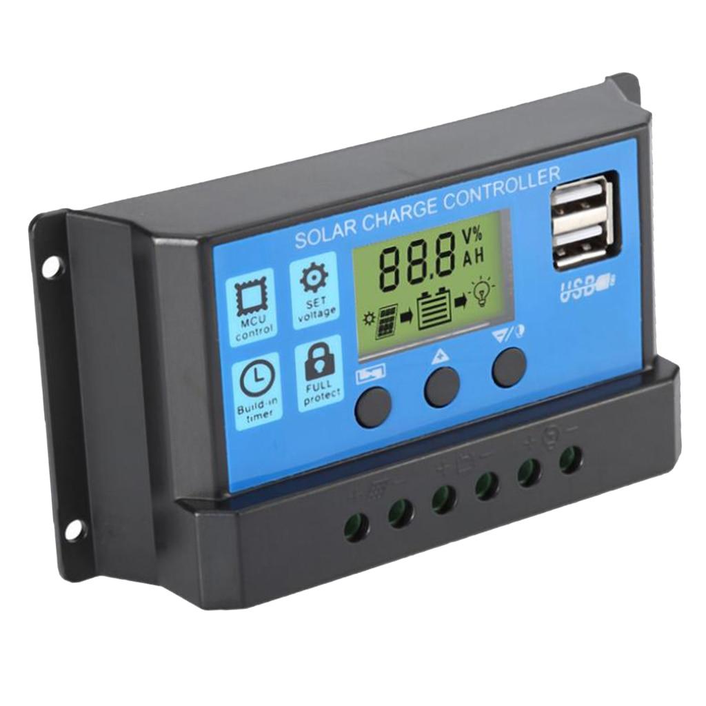 60a pwm controlador de carga solar regulador de carregador de painel de celula solar modo de