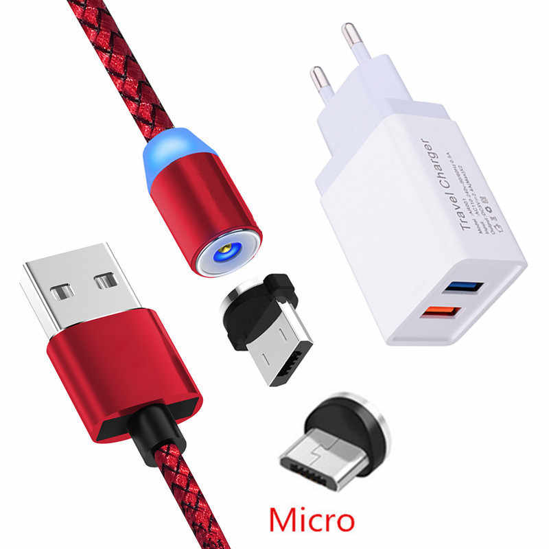 Magnetic Micro USB Charge Kabel Kehormatan 8A 8X Meizu V8 M6 M5S QC 3.0 Cepat Charger UNTUK Samsung A7 J2 a6 Asus Zenfone 3 Max ZC520TL