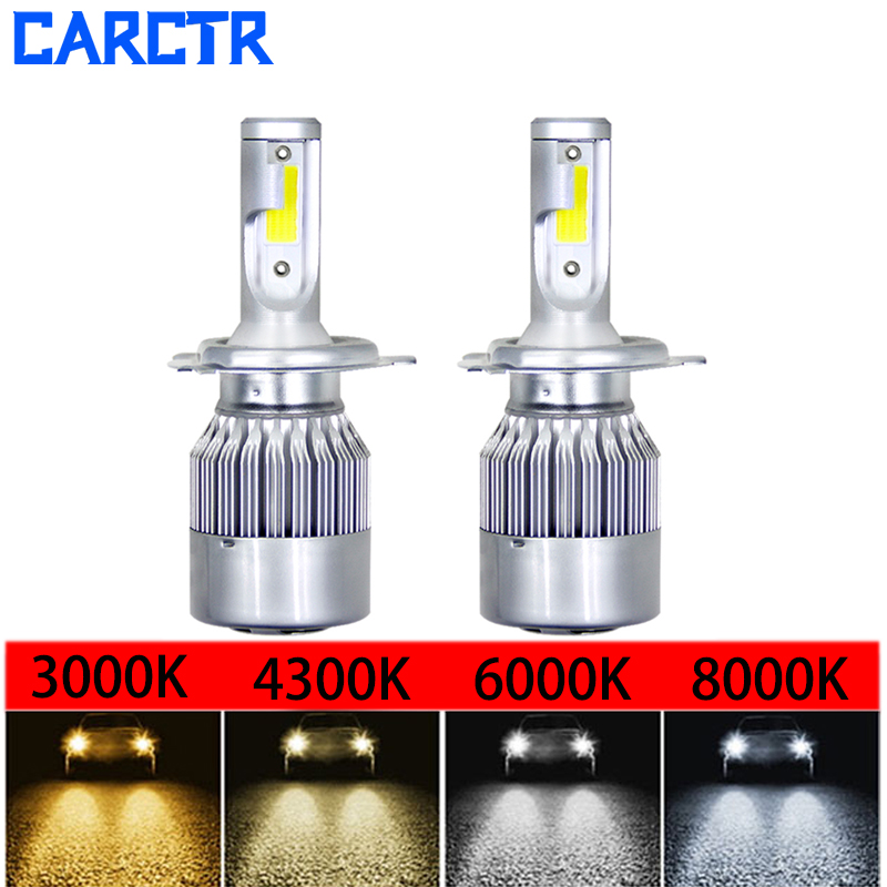 LED Headlight Bulbs Car H4 Lamp 880 881 H/9/11 H7 LED Lamp 9003/4/5/6/7 30/43/60/8000K IP68 36W Auto Headlamp Car Lights 2PCS