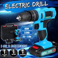 200W 240V Cordless Electric Drill Wood Metal Impact Electric Screwdriver Hand High Torque With Rechargeable Li ion Battery|Electric Screwdrivers|Tools -