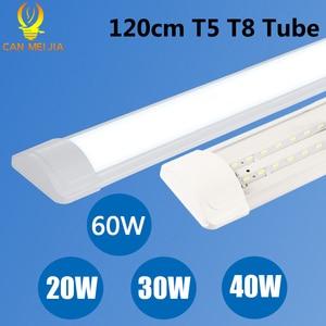 Image 1 - 10PCS Led צינור אור 220V Led מנורת 1200mm 120cm 600mm T5 T8 צינור 20W 30W 40W קיר מנורת בית תאורה Lampara בית
