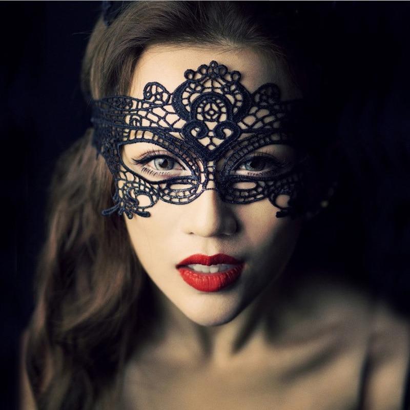 Черная Сексуальная кружевная маска на глаза для карнавала, Хэллоуина, маскарада, Вечерние Маски, праздничные Вечерние Маски